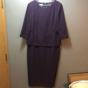 Talbot's Plus Size Overlay Dress